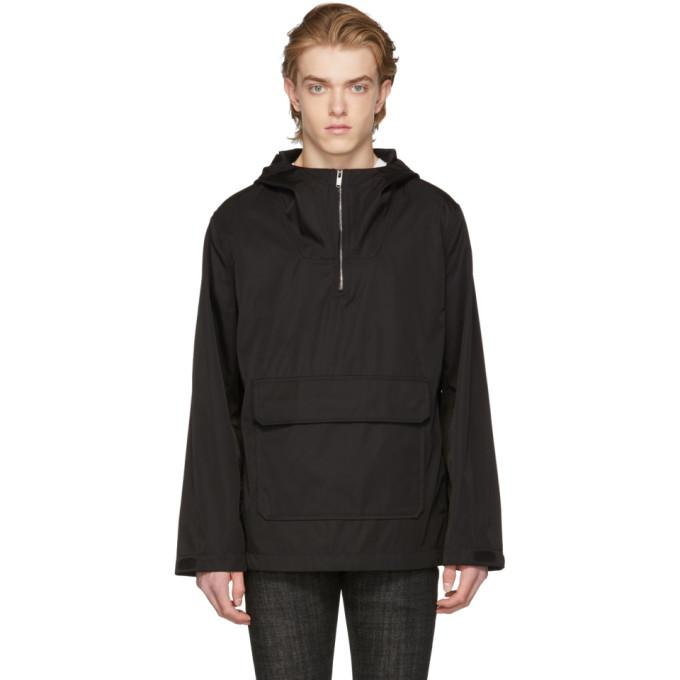 A.P.C. Black Parka Duty Coat-BlackSkinny