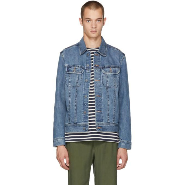 A.P.C. Blue US Denim Jacket-BlackSkinny