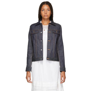A.P.C. Indigo Brandy Denim Jacket-BlackSkinny