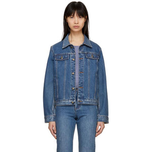 A.P.C. Indigo Cherry Denim Jacket-BlackSkinny