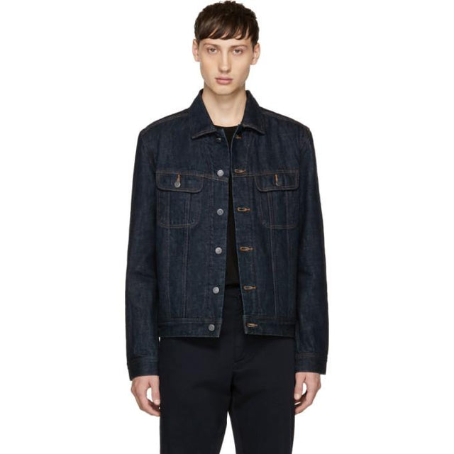 A.P.C. Indigo Denim Flynn Jacket-BlackSkinny