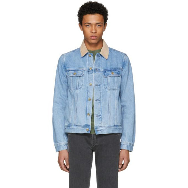 A.P.C. Indigo Denim Howl Jacket-BlackSkinny