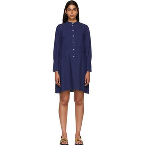 A.P.C. Indigo Kimya Dress-BLACKSKINNY.COM