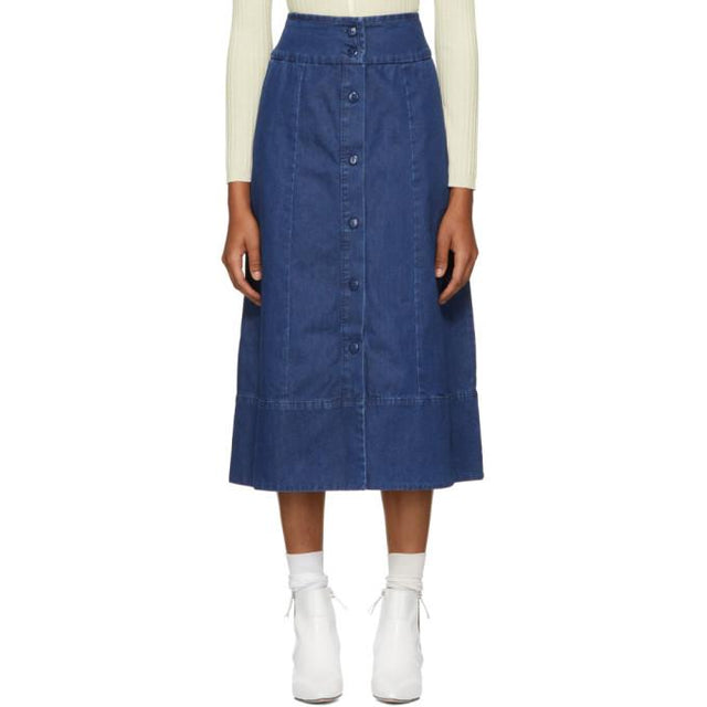 A.P.C. Indigo Knight Skirt-BLACKSKINNY.COM