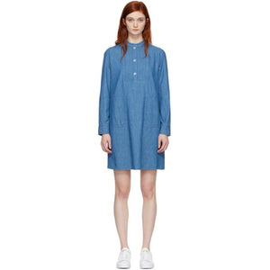 A.P.C. Indigo Saffron Dress-BLACKSKINNY.COM