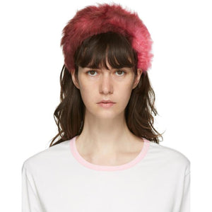 Ashley Williams Pink Shearling Alice Headband