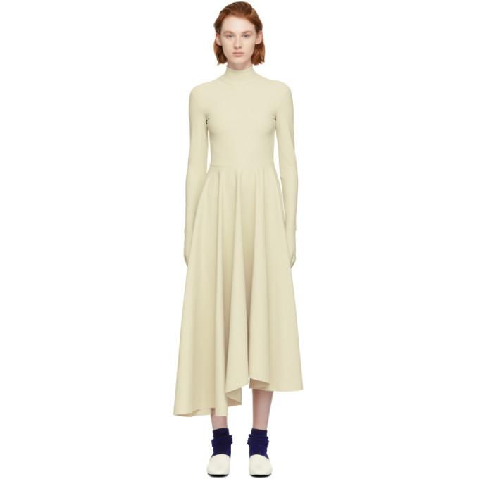 A.W.A.K.E. Beige Turtleneck Glove Dress-BLACKSKINNY.COM