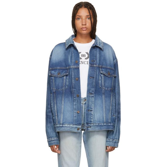 Balenciaga Blue Like A Man Denim Jacket-BlackSkinny