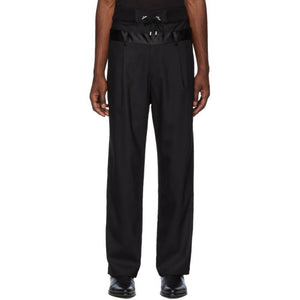 Balmain Black Double Waistband Trousers