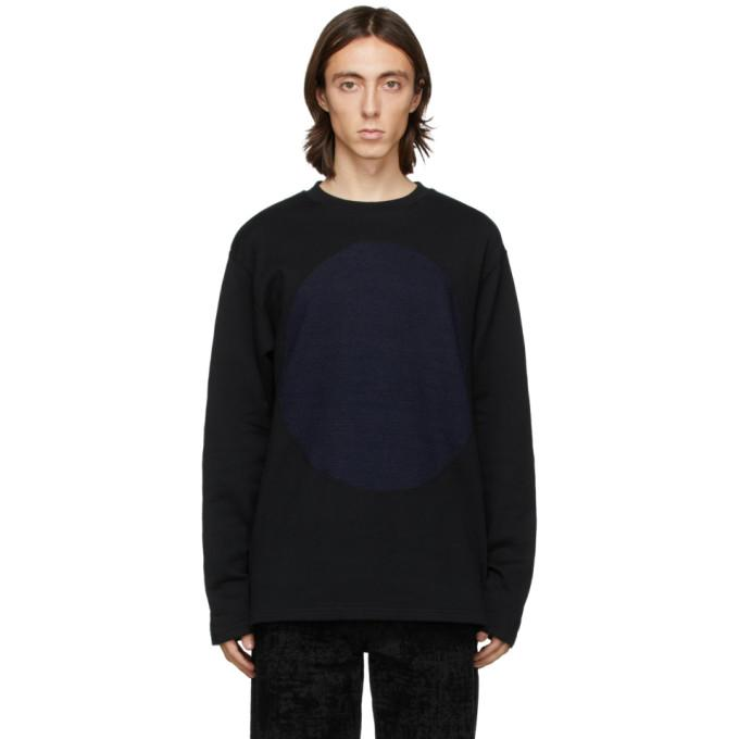 Blue Blue Japan Black and Indigo Yarn-Dyed Circle Sweatshirt