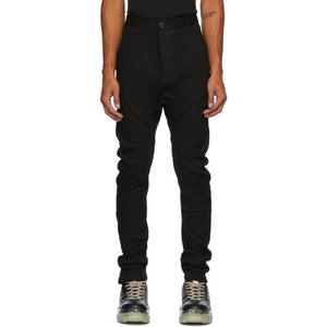 Boris Bidjan Saberi Black Resin-Dyed Jeans