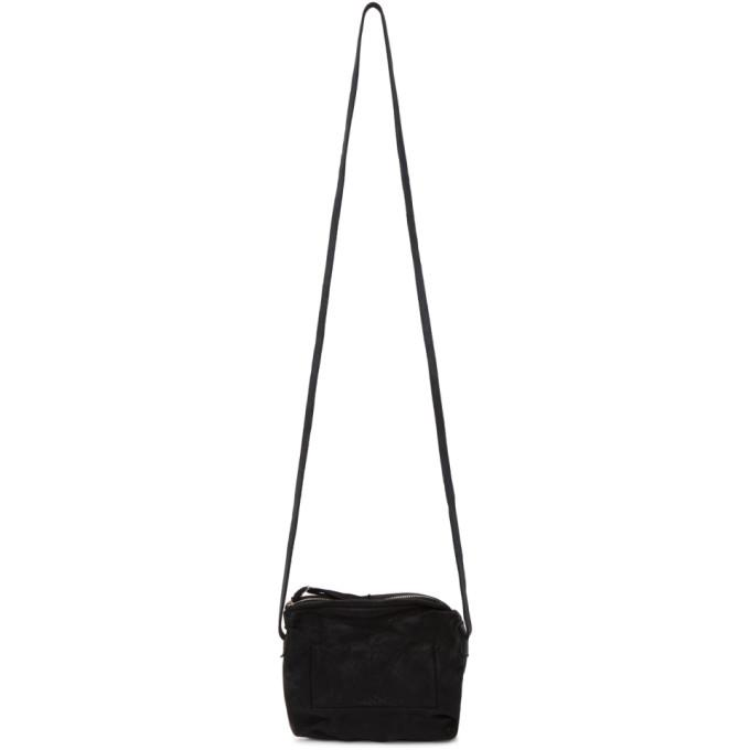 Boris Bidjan Saberi Black Simple Messenger Bag