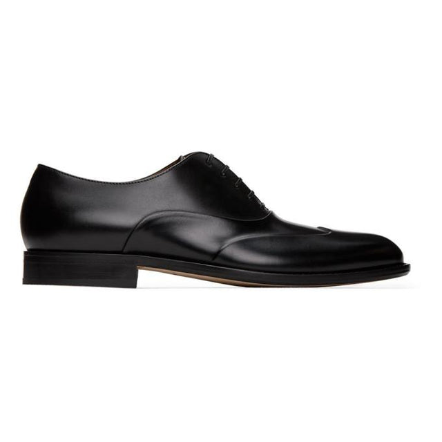 Boss Black Polished Leather Oxfords
