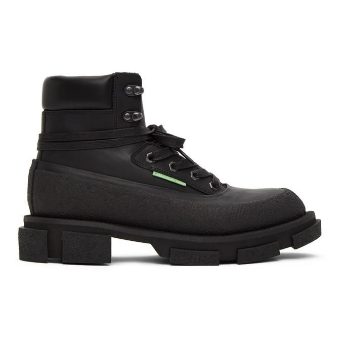 both Black Gao Mid Boots