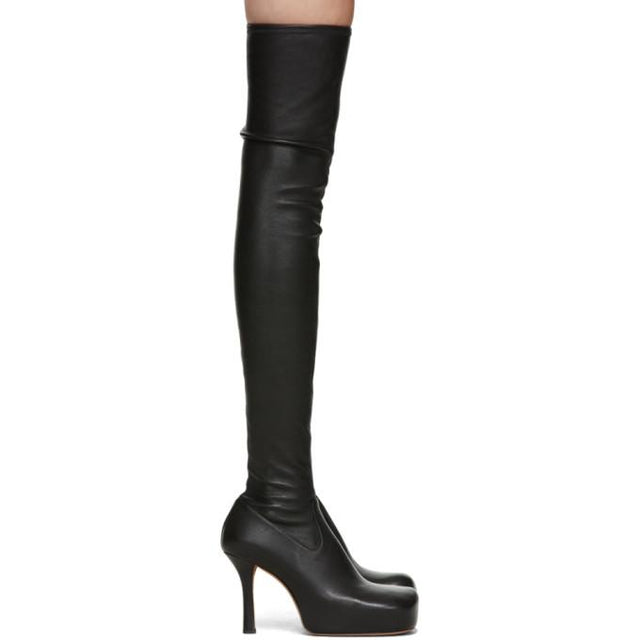 Bottega Veneta Black Nappa The OTK Tall Boots