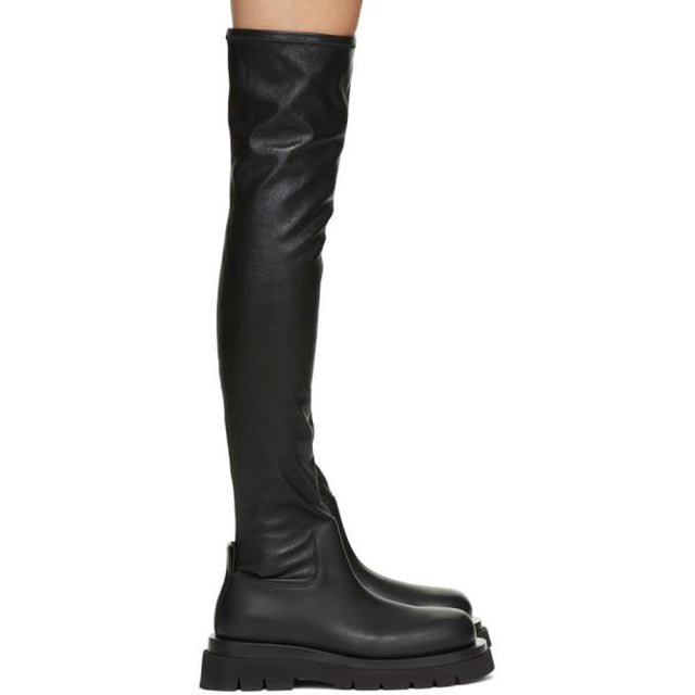 Bottega Veneta Black Tall Combat Boots