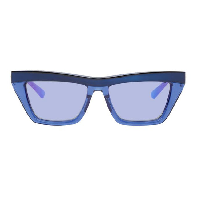 Bottega Veneta Blue Rectangular Sunglasses