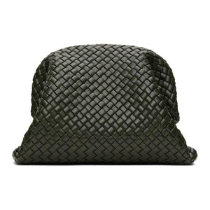 Bottega Veneta Green Intrecciato The Pouch Clutch
