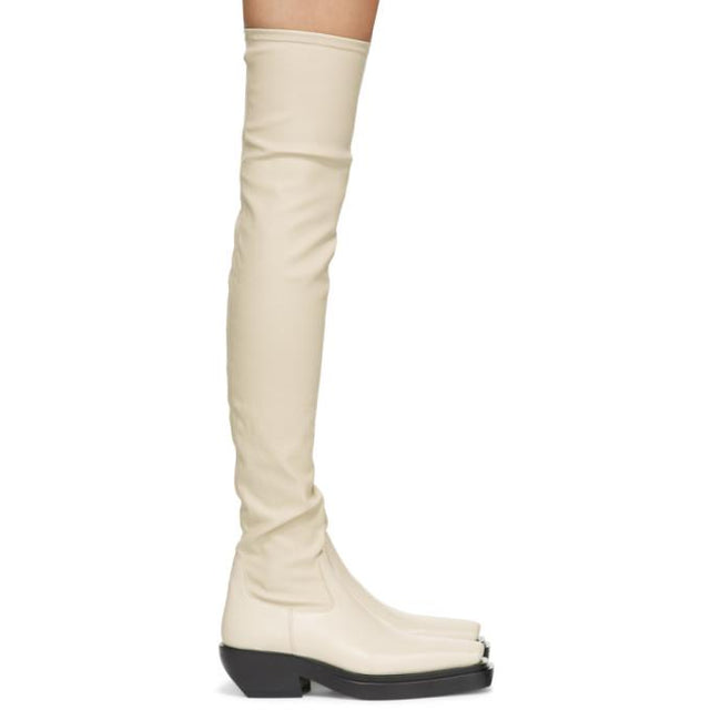 Bottega Veneta Off-White The Lean Tall Boots