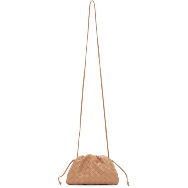 Bottega Veneta Tan Intrecciato Small The Pouch Clutch
