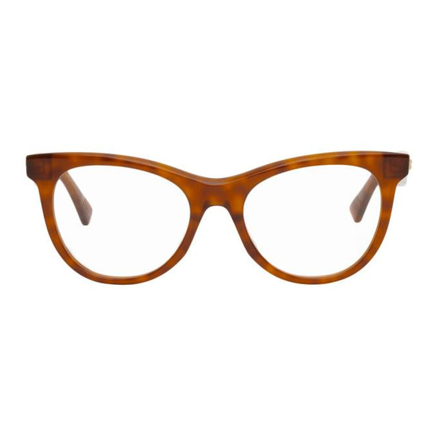 Bottega Veneta Tortoiseshell Square Glasses