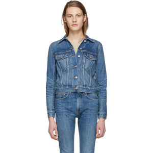 Brock Collection Blue Denim Jessie Jacket-Jackets & Coats-BLACKSKINNY.COM