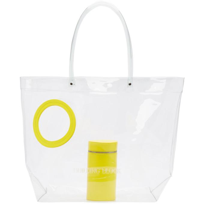 Building Block SSENSE Exclusive Yellow Transparent Vinyl Peephole Tote-Bags-BLACKSKINNY.COM