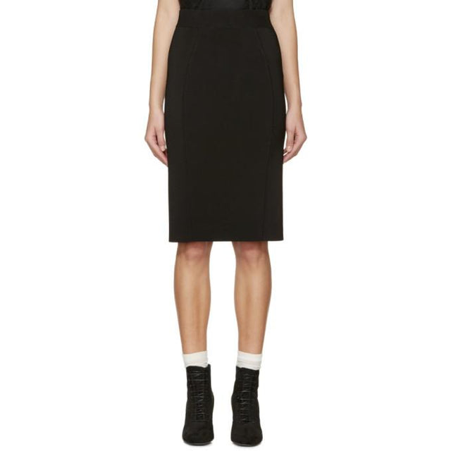 Burberry London Black Knit Skirt-BLACKSKINNY.COM