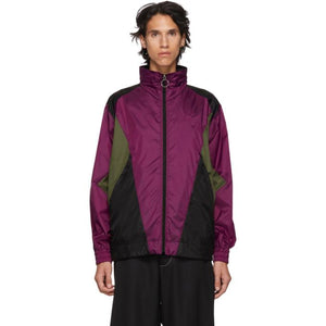 Burberry Purple Hepwood Jacket-BlackSkinny