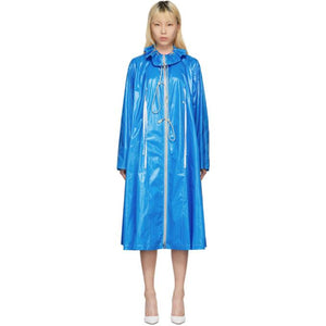 Calvin Klein 205W39NYC Blue Drawstring Tent Coat-BlackSkinny