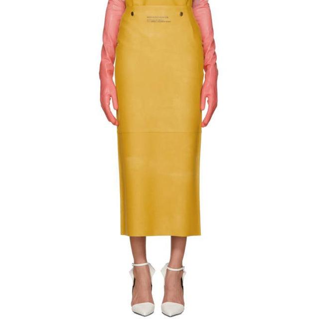 Calvin Klein 205W39NYC Yellow Rubber Skirt-BLACKSKINNY.COM