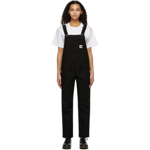 Carhartt Work In Progress Black Canvas Bib Overalls