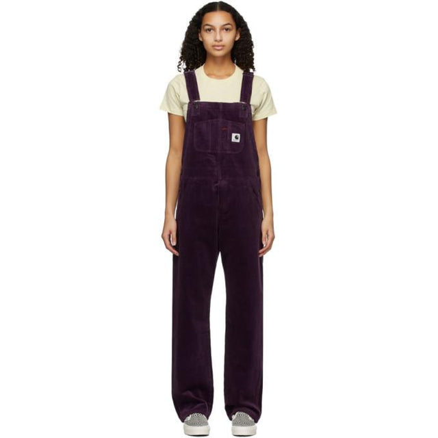 Carhartt Work In Progress Purple Corduroy Bib Overalls