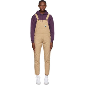 Carhartt Work In Progress Tan Cotton Overall Jumpsuit
