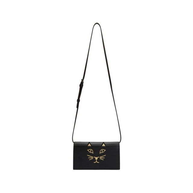Charlotte Olympia Black Feline Shoulder Bag-Bags-BLACKSKINNY.COM