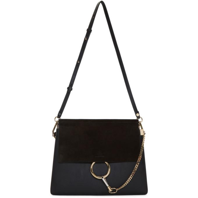 Chloé Black Medium Faye Bag-Bags-BLACKSKINNY.COM