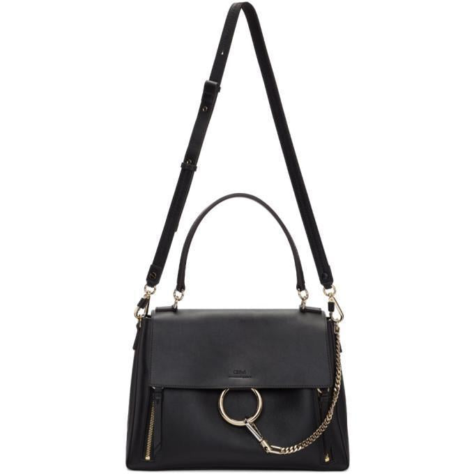Chloé Black Medium Faye Day Bag-Bags-BLACKSKINNY.COM