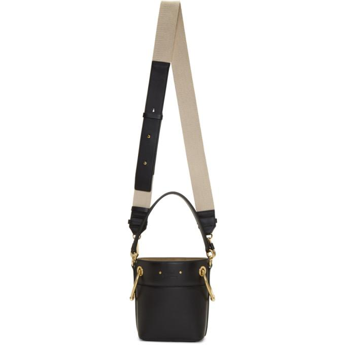 Chloé Black Mini Roy Bucket Bag-Bags-BLACKSKINNY.COM