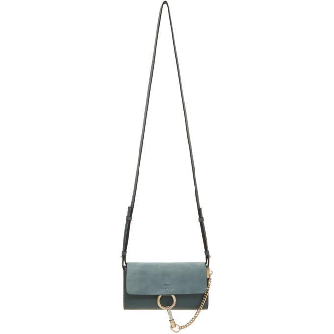 Chloé Blue Faye Wallet Bag-Bags-BLACKSKINNY.COM