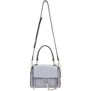 Chloé Blue Mini Faye Day Bag-Bags-BLACKSKINNY.COM