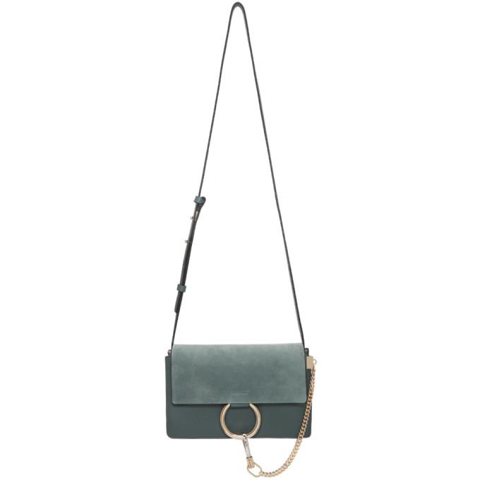 Chloé Blue Small Faye Bag-Bags-BLACKSKINNY.COM