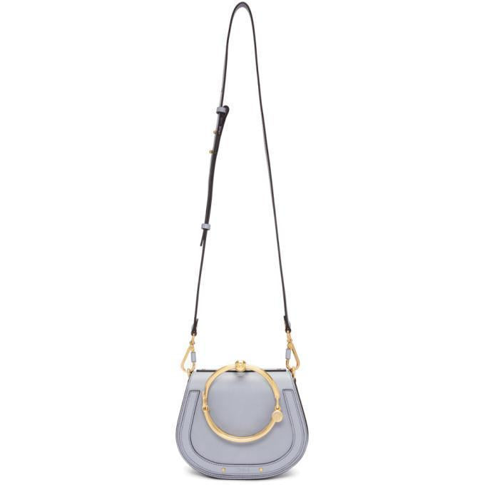 Chloé Blue Small Nile Bracelet Bag-Bags-BLACKSKINNY.COM