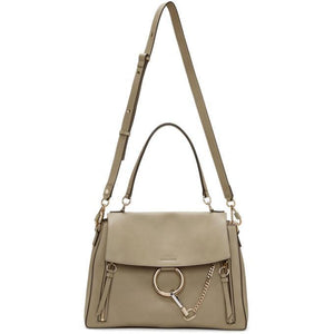 Chloé Grey Medium Day Faye Shoulder Bag-Bags-BLACKSKINNY.COM