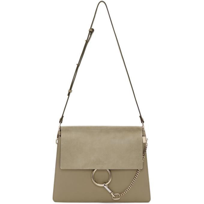 Chloé Grey Medium Faye Bag-Bags-BLACKSKINNY.COM