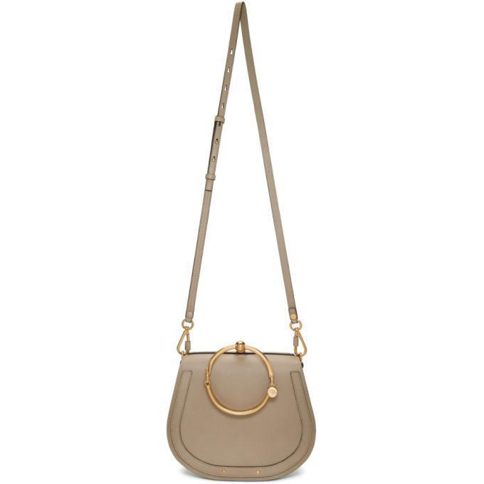 Chloé Grey Medium Nile Bracelet Bag-Bags-BLACKSKINNY.COM