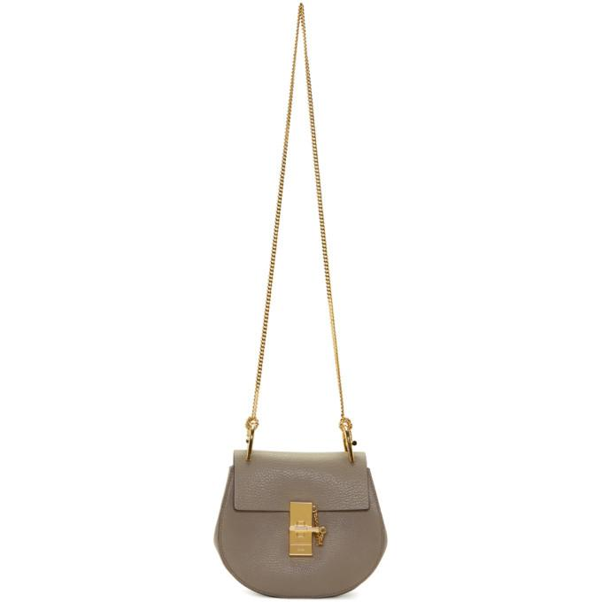 Chloé Grey Mini Drew Bag-Bags-BLACKSKINNY.COM