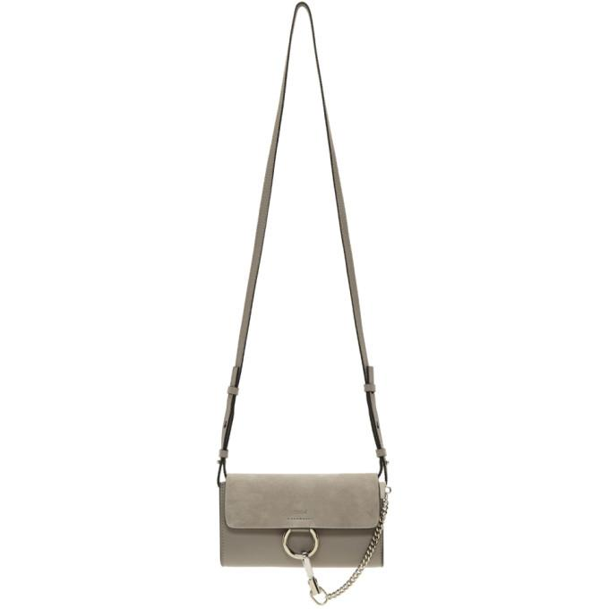Chloé Grey Mini Faye Wallet Bag-Bags-BLACKSKINNY.COM