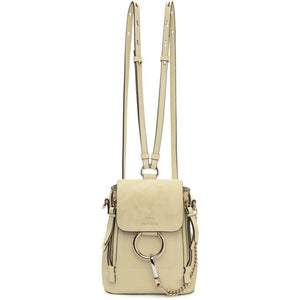 Chloé Off-White Mini Faye Backpack-Bags-BLACKSKINNY.COM