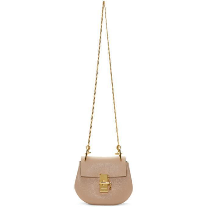 Chloé Pink Mini Drew Bag-Bags-BLACKSKINNY.COM