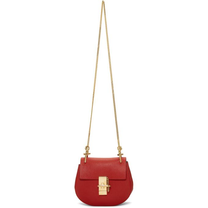 Chloé Red Mini Drew Bag-Bags-BLACKSKINNY.COM